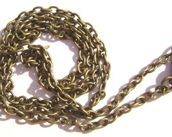 Chain Necklace Handmade Antiqued Brass Steel  30 inch  - 1 , 5 or 15  Qty