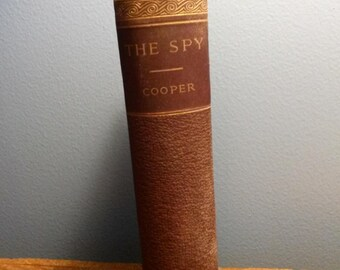 1895 The Spy Late Victorian Antique Book - Author of The Last of The Mohicans