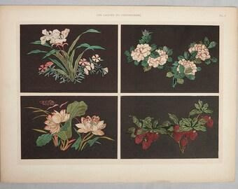1920s Original Pochoir Print from the Portfolio of Les Laques du Coromandel by E. A. Seguy Plate # 6