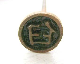 Japanese Yakiin - Japanese Branding Iron - Metal Stamp - Kanji Stamp - Japanese Stamp - Yakin - Yakiin - mortar bone join socket S323