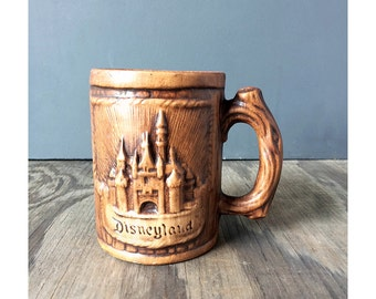 1970s Disneyland Mug - Faux Bois Disneyland Mug for Guy