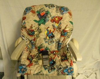 Chicco Polly High Chair Cover In Super Hero's