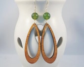 Long Drop - Unique Koa Wood Earrings