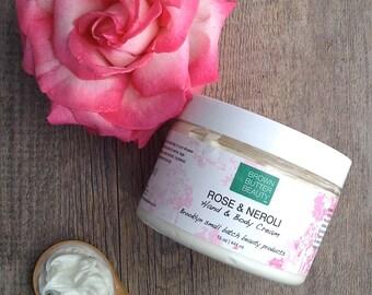 Hand & Body Cream  Rose Neroli Hand and Body Cream    Organic Ingredients  