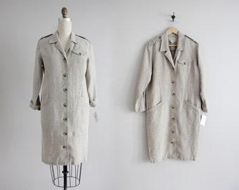 linen coat dress | 90s linen dress