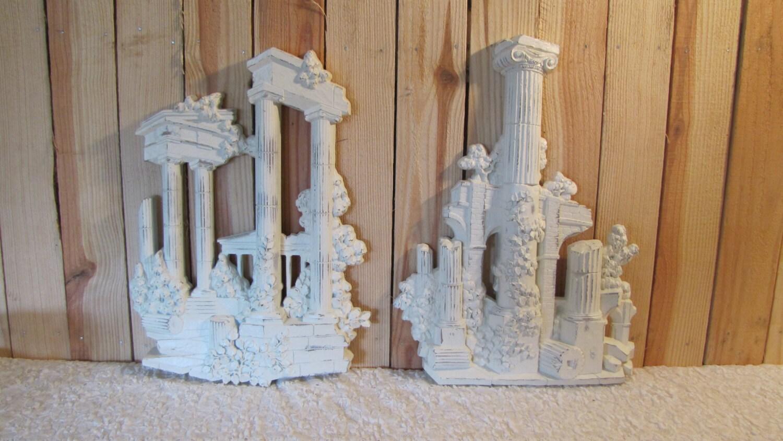 Roman Ruins Architecture Columns Vintage Homco Home Decor Wall
