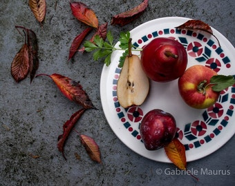 Food photography / Autumn near the kitchen //  instant download / jpg file / home decor / wall art / fruits / Obst