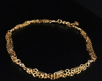 Gold Bracelet || Delicate Gold Fill Bracelet || Wire Wrapped Gold Fill Bracelet