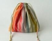 Rainbow Drawstring Bag, children crayons storage bag, kids storage bag, fabric storage bag, reusable fabric bag, Eco-friendly fabric bag