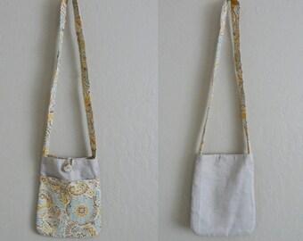 Children messenger bad, Earth tones kids shoulder bag,  eco friendly linen fabric messenger bag, small kids shoulder bag