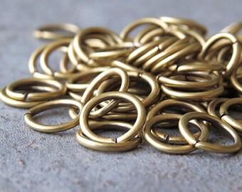 8mm 18 Gauge Antique Brass Open Jump Rings : 50 pc Brass Jumpring