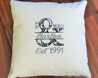 Custom Appliqued Pillow