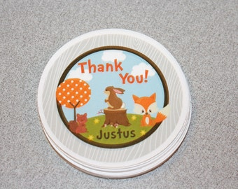 Woodland Favor Tags / Forest Animal Favor Tags / Woodland Animal Favor Tags / Woodland Party Tags / Woodland Birthday Party / Forest Animals
