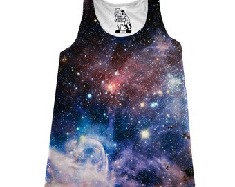 Women's Carina Nebula Galaxy Print Tank Top Available Sizes XS-2XL