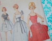 SIMPLICITY vintage 4474 full skirt dress size Miss size 12