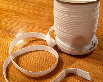 Bias Trim - WHITE - 1/2 Inch Double Fold - 7.00 Dollars For 10 Continuous Yards