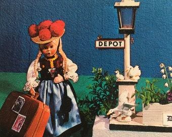 3 Vintage Doll Postcards from The Netherlands