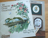 Lot of 2 birds plants  Counted Cross Stitch patterns, needle arts embroidery, embroidery Country Diary Collection vintage cross stitch books
