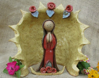 Handmade Lady of Guadalupe Sculpture