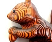 super cute mid century carved squirrel with acorn wall hanging 1960s wooden witco style tiki carving