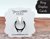 Ring Display Cards Customized with Your Logo - Jewelry Cards - Product Display - Packaging