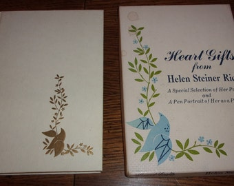 Heart Gifts From Helen Steiner Rice-Hardcover Poetry Book with Box-1968