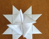 Custom order for Beth:  25 4-inch White Moravian Paper Star Christmas ornaments