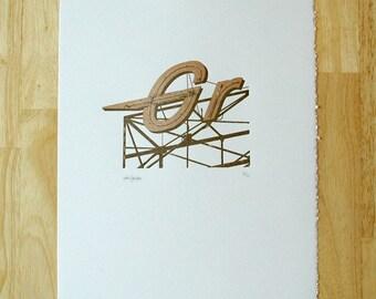 Rio Grande — Lettpress Print
