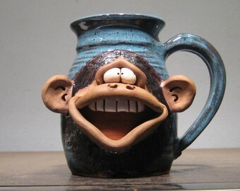 Happy Monkey Mug ....                                             e883