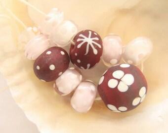 11 Handmade Lampwork Beads