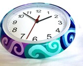 Swirl Painted Clock