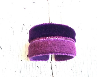 Velvet and Wool Twinsie Stackable Adjustable Cuffs