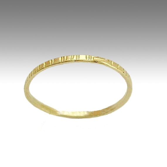 Simple wedding band, Thin gold band, grooved band,14k yellow gold ring, wedding band, stacking band, unisex ring, wedding ring - Time RG1594
