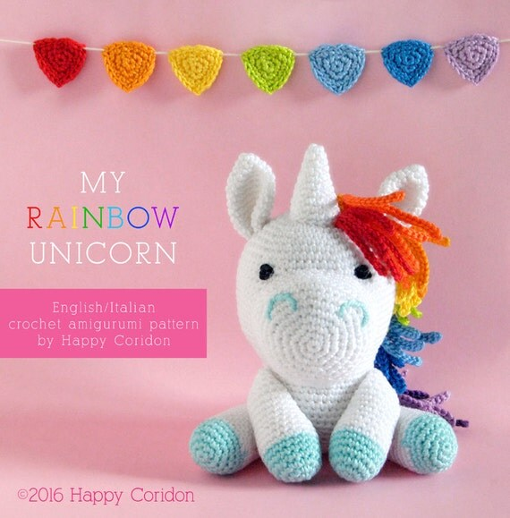 Rainbow Unicorn Knitting Pattern : Crochet pattern my rainbow unicorn