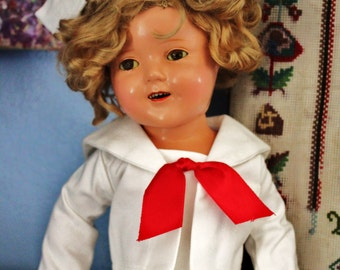Shirley Temple 18 inch Composition Doll