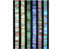 Art Quilt, Fabric Wall Hanging, Abstract Trees, Fabric Landscape