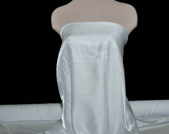 Shimmer Satin  fabric White  1 YD bridal, drapery. formal, costume,pageants, crafts ,decor, curtains, children's wear