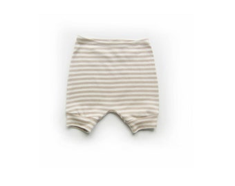 baby stripe shorts, cotton diaper cover, baby toddler striped pants, toddler shorties (beige knit stripe)