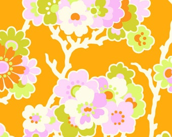 YARDS or HALF YARDS - Sprig Tangerine by Heather Bailey for FreeSpirit