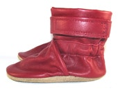 Soft Sole Red Leather Baby Boots Shoes 12 to 18 Month