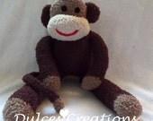 Layton the sock monkey ready to ship