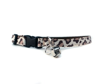 3/8 Wide Collar for Cat or Tiny Puppy in Leopard
