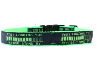 1 Inch Wide Dog Collar with Adjustable Buckle or Martingale in Fart Loading