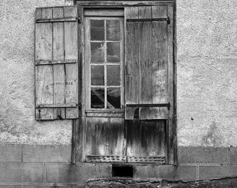 Epicerie Window - French country side -   fine art photography