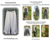 Money saving pattern bundle / Easy Smock Frock / pantaloons / downloadable / sewing pattern/  PDF / digitel / epattern / pinterest