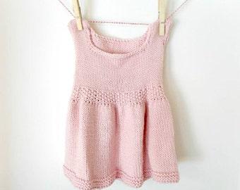 Dress, Baby Dress, Knit Baby Dress, Knit Dress, Baby Girl Dress, Hand Knit Baby Dress, Hand Knit