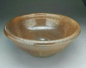 """Handmade Earthtone Pottery Sink For Your Bathroom Remodeling Project - """"Drop-in"""" or """"Vessel"""" Sink Design with """"NO Overflow"""" - Ready to Ship."""