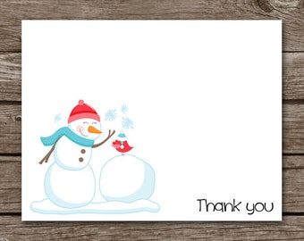 PRINTABLE Snowman Note Cards, Snowman Cards, Winter Note Cards, Snowman Stationery, Snowball Cards, Personalized Cards,
