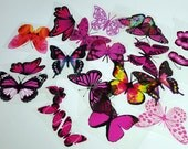 E14 Pink UNCUT Butterfly pack - 20 per pack - scrapbooking, card making, crafts