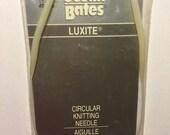Vintage Susan Bates Luxite Circular Knitting Needles 8 US